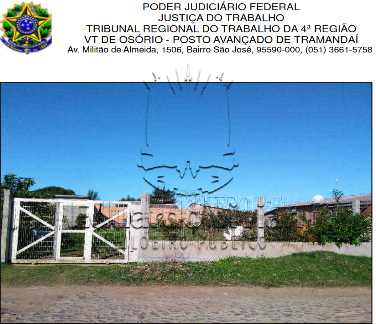 Rua  Epitácio  Pessoa,  s/n, Parque  dos  Presidentes,  em  Tramandaí