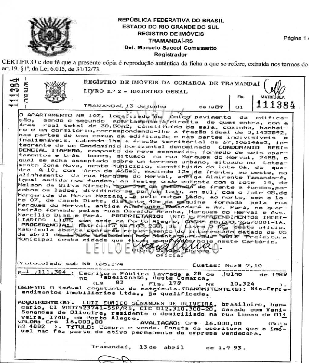 VENDA DE APARTAMENTO EM TRAMANDAI NA ZONA NOVA